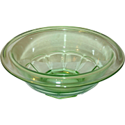 Depression Glass Mixing Bowl Green by Anchor Hocking