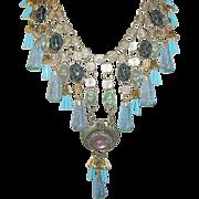 Vintage Egyptian Revival Bibb Necklace