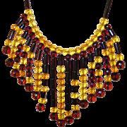 Vintage Necklace Bibb Cherry and Honey Amber