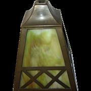 Vintage Lamp Shade Slag Glass - Red Tag Sale Item