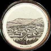 Vintage Souvenir Photo Medallion England