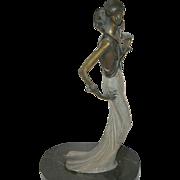 """Vintage Bronze Sculpture """"Baroness"""""""