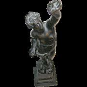 Vintage Bronze Sculpture Goddess