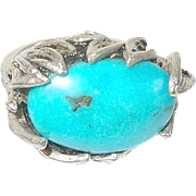 Vintage Ring Sterling Turquoise 1930's