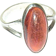 Vintage Ring Sterling Mexican Opal