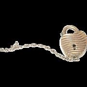 Vintage Heart Lock Charm