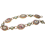 Vintage Bracelet Micro Mosaic Links