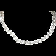Vintage Necklace Czechoslovakian Crystal Beads
