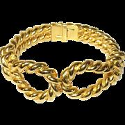 Vintage Bracelet Hinged Cuff by K.J.L.