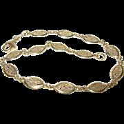 Vintage Bracelet Sterling Vermeil  Filigree LInks