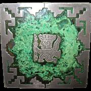 Vintage Cigarette Box Sterling Copper