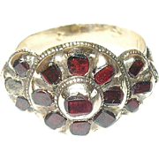 Georgian 15K Garnet Ring