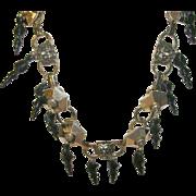 Vintage Necklace Runway Lion Teardrop Design