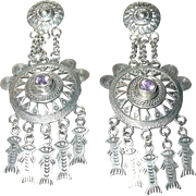 Vintage Earrings Sterling Chandeliers