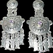 Vintage Earrings Sterling Chandeliers