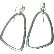 Vintage Earrings Sterling Modernist