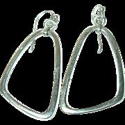 Vintage Earrings Sterling Modernist