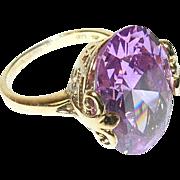Vintage Ring Sterling Vermeil Openwork