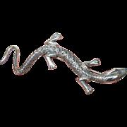 Vintage Brooch Sterling Salamander