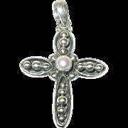 Vintage Pendant Cross Sterling