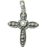 Vintage Pendant Cross Sterling