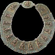 Antique Ceremonial Collar Tebetian  buddhas 19th Century
