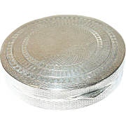 Vintage Pill Box Sterling Chased Design