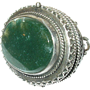Antique Sterling Watch Fob Pendant