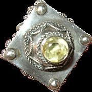 Antique Watch Fob Pendant 800 Coin Silver