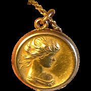 Art Nouveau Gold Filled Locket