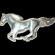 Vintage Brooch Sterling Horse