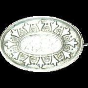 Vintage Brooch Silver Plate