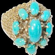Vintage 14K Turquoise Ring