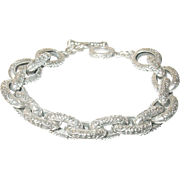 Vintage Link Bracelet Chased Design