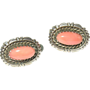 Vintage Sterling Coral Earrings by L.S