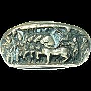 Antique Ring Sterling Roman Frieze