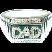 Vintage Ring Sterling Diamonds DAD