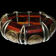 Vintage Bakelite Expandable Bracelet Coins