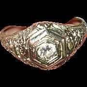 Art Deco 18K Diamond Ring Filigree Work