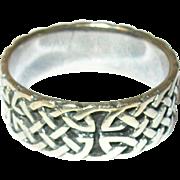 Vintage Ring Sterling Celtic Band