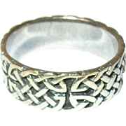 Vintage Ring Sterling Celtic Band