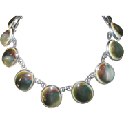 Vintage Necklace Sterling Operculum Shell