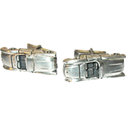 Vintage Cuff Link Sterling by Fenwick & Sailors Automobile