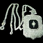 Vintage Necklace Pendant Filigree Work
