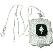 Vintage Necklace Pendant Filigree Work
