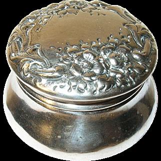 Art Nouveau Sterling Vanity Box Repousse Work