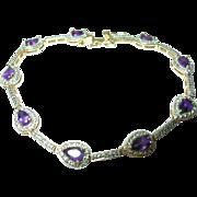 Vintage Bracelet Sterling Vermeil Links