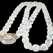 Vintage Necklace Aurora Borealis Beads