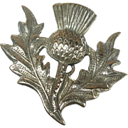 Antique Thistle Brooch Sterling