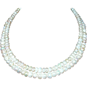 Vintage 14K Clasp Cultured Pearl Necklace